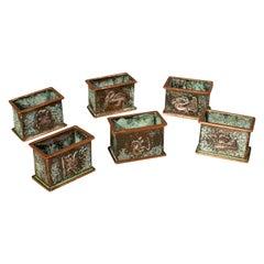 Set of 6 Antique Napkin Rings, English, Copper, Arts & Crafts, Circa 1920