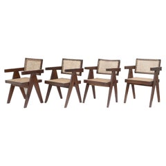 Pierre Jeanneret Set of 4 Chairs / Authentic Mid-Century Modern PJ-SI-28-A