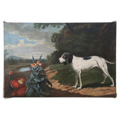 Dog and Pheasant Oil Painting on Canvas