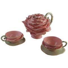 Cinderella Tea Service, Pink & Gold, Handmade in Italy, Luxury Gold Design, 2021