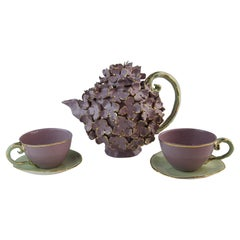 Cinderella Tea Service, Lilac & Gold, Handmade in Italy, Luxury Gold Design 2021
