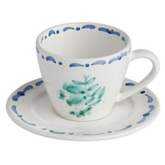 Set of Six Hand-Painted Ceramic Cups Sofina Boutique Kitzbühel Austria