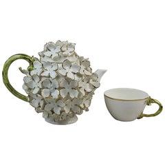 Cinderella Tea Service, White & Gold, Handmade in Italy, Luxury Gold Design 2021