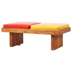 Bench by Harvey Probber in Ketchup / Mustard in Oak, USA 1960s