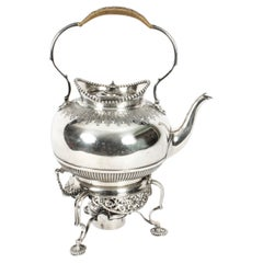 Antique Silver Plate Spirit Kettle on Stand by Elkington Dated 1845 19th C