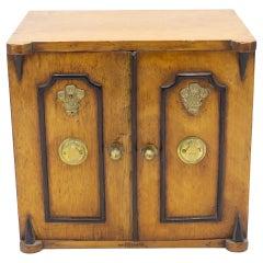 English Regency Walnut Jewelry Cabinet