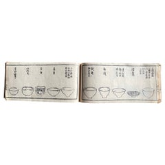 Japan Antique Tea Guide Chado Ceremony Woodblock Prints Book 1850