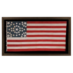 43 Star American Flag, Idaho Statehood, Starburst Medallion, ca 1890