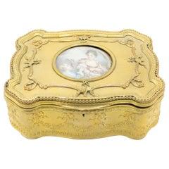 French Louis XVI Style Bronze Dore Box