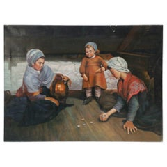 Women with Stones Oil Painting on Canvas