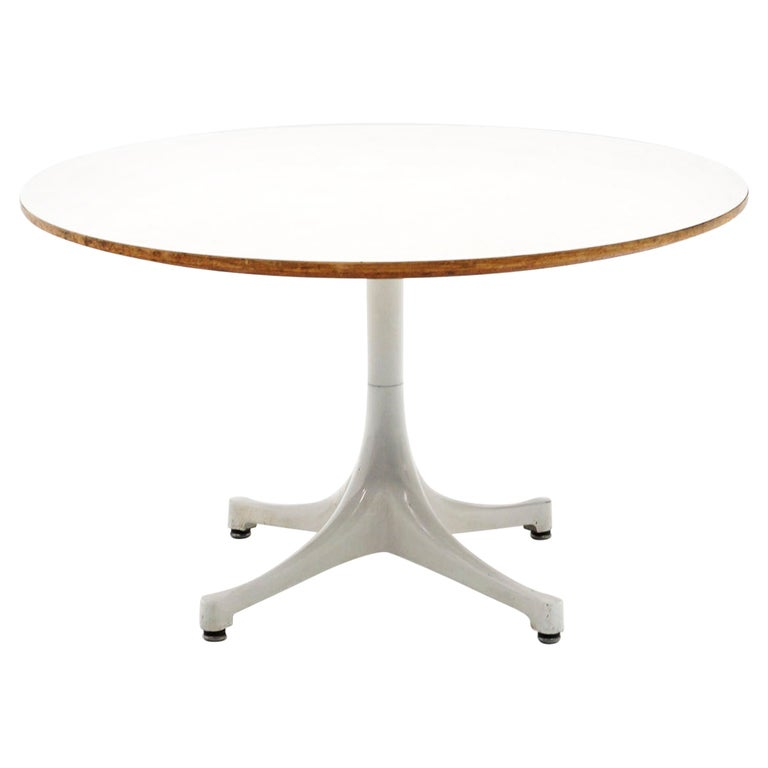 Early Pedestal Coffee Table No. 5452 Designed by Irving Harper for George Nelson For Sale