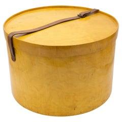 Swedish Biedermeier Karelian Birch Hat Box