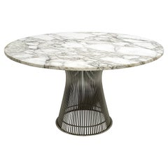 Warren Platner for Knoll Dining Table with Arabescato Marble Top