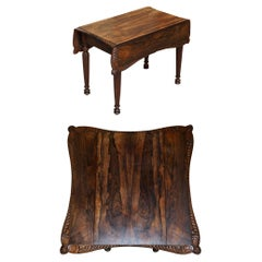 Important William iv circa 1830 Pembroke Extending Table Exquisite Carved Timber