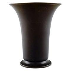 Just Andersen, Denmark, Early Vase in Alloy Bronze, 1930s