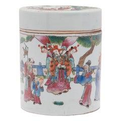 Chinese Famille Rose Sanxing Tea Leaf Jar, c. 1900