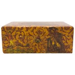 English Victorian Decoupaged Horse Jewelry Box