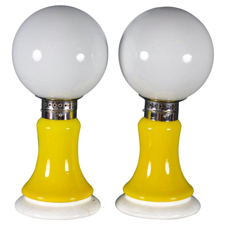 Pair of Original Mazzega Table Lamps 1960' For Sale