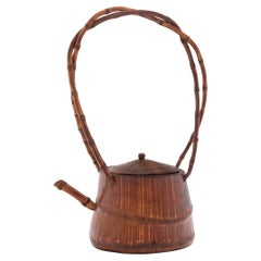 Chinese Bamboo Teapot with Arched Handle, c. 1900
