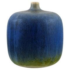 Sven Wejsfelt '1930-2009' Gustavsberg Studiohand, Unique Vase in Glazed Ceramics