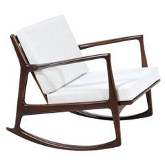 Danish Modern Sculpted Rocking Chair by Ib Kofod-Larsen for Selig