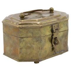 English Victorian Brass Box