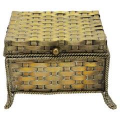 English Victorian Style Woven Brass Box