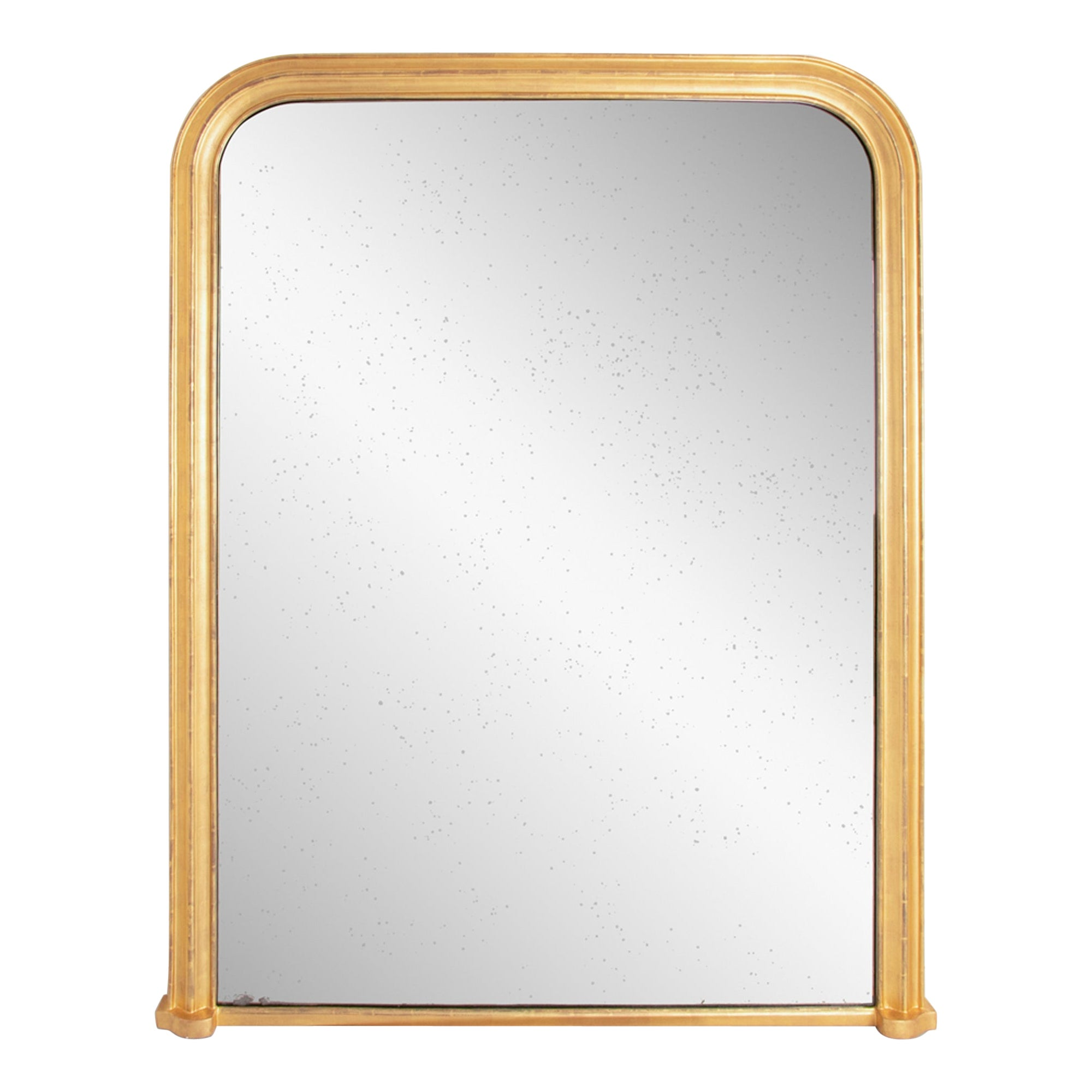 Large French Gilded Overmantle Mirror, c.1840