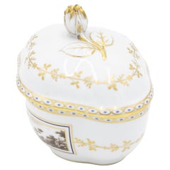 French Victorian Style White Porcelain Box