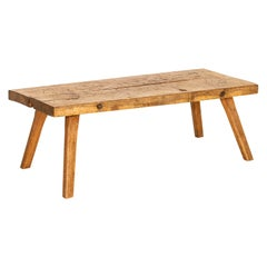 Vintage Rustic Coffee Table with Splay Legs from Hungary