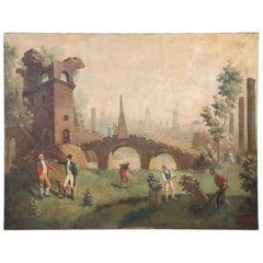 Gardeners Among the Ruins Oil Painting on Canvas