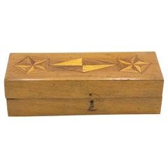 English Victorian Style Wood Inlaid Box