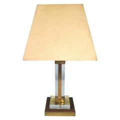 """Table Lamp in Lucite """"Samantha"""" Manufacture Corinne Halna, 1970s"""