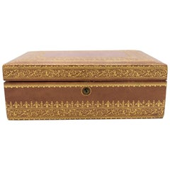 French Victorian Style Leather Jewelry Box