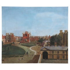 Town Square Aerial View Oil Painting on Canvas