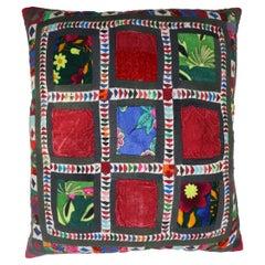 Botanical Suzani Textile Pillow