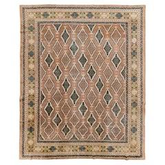 Early 20th Century Handmade Central Asian Samarkand Room Size Carpet
