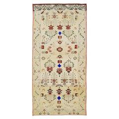 Mid-20th Century Handmade Persian Hamadan Throw Rug