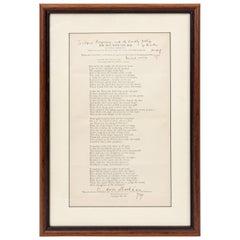 Framed Typed Poem