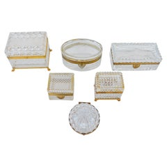 Late 19th Century, Baccarat Glass Boxes