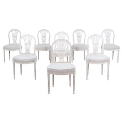 Set of 8 French Louis XVI Dining Chairs