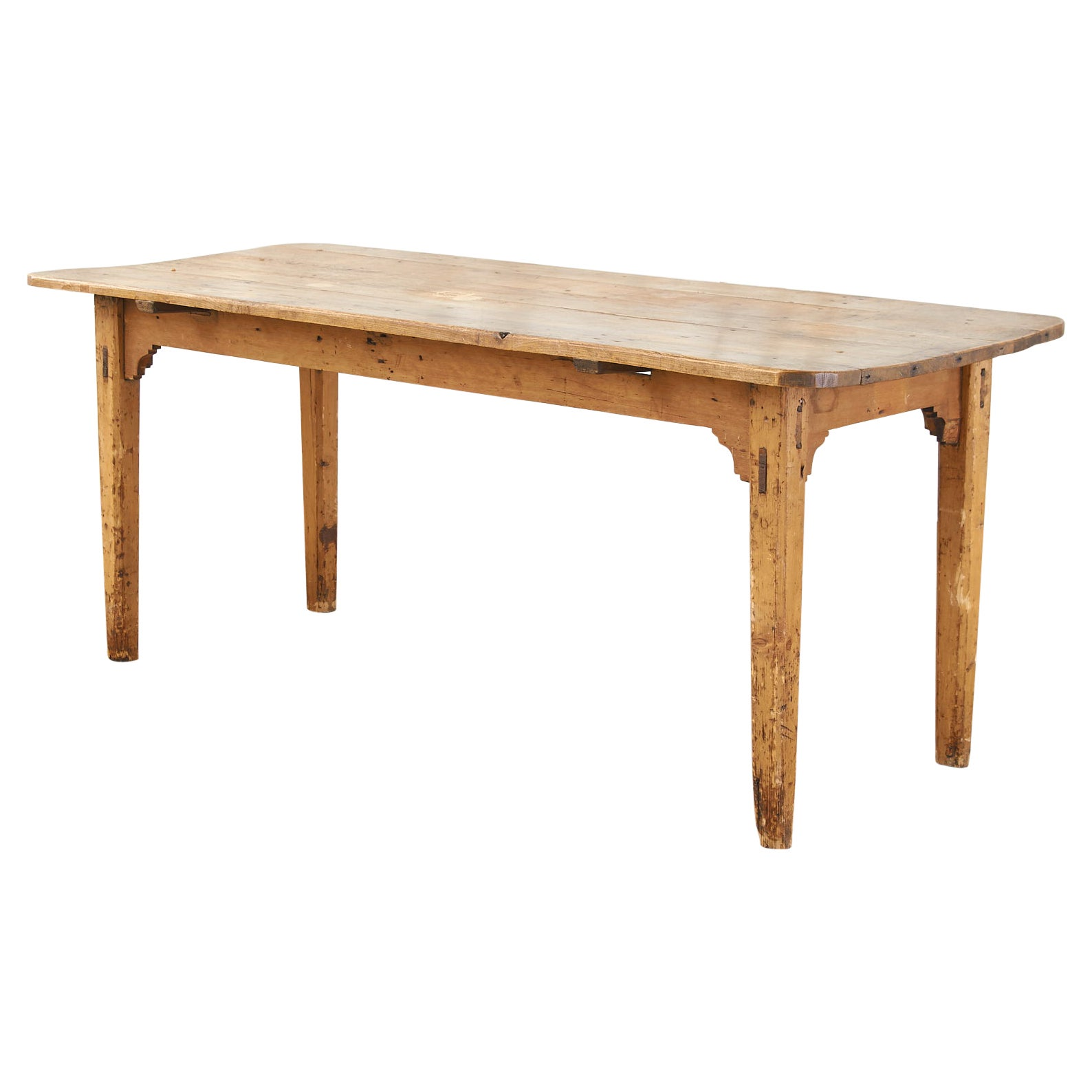 Country English Provincial Fruitwood Farmhouse Dining Table