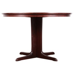 Mid-Century Modern Extending Round Table