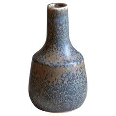 Carl-Harry Stålhane, Vase, Brown / Blue Glazed Stoneware, Rörstrand, 1960s