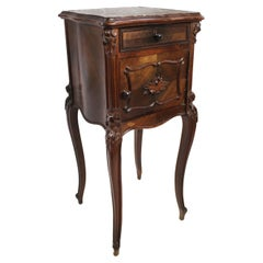 19th C French Marble Topped Pot Cupboard