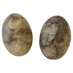 Egg Shaped Marble Bookends