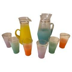 1960's Glass Drink Set