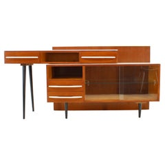 1960s M.Pozar Modular Set of Desk and Chest of Drawers, Czechoslovakia