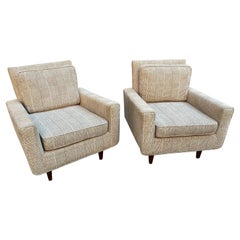 Florence Knoll for Knoll Pair of Lounge Chairs/ Original Fabric