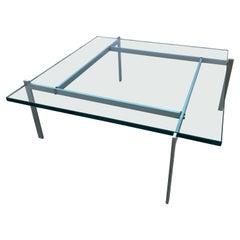 Poul Kjaerholm PK61 Glass Coffee Table